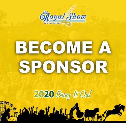 Graphic with the words Become a Sponsor Royal Show 2020