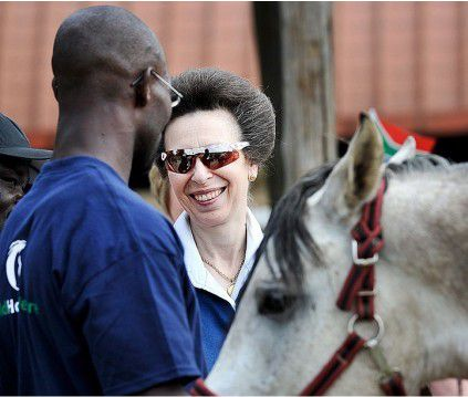 Princess Anne paid a personal visit to Enos at The Soweto Equestrian Centre in 2012.