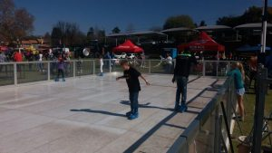 Kids skating on Synthetic Ice Rink Royal Show 2019